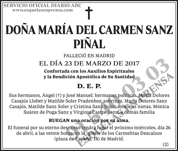 María del Carmen Sanz Piñal